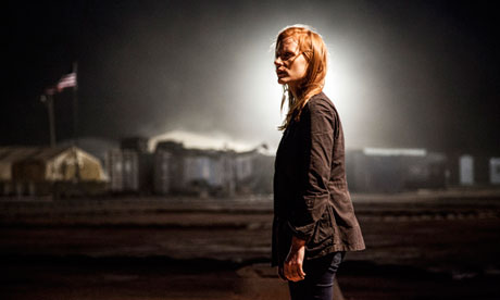 Jessica Chastain as CIA operative Maya in Kathryn Bigelow's action thriller Zero Dark Thirty